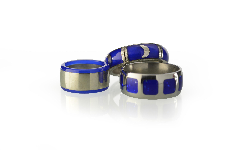 3 ringe blau